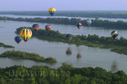 Hot Air Balloons over Tennessee River