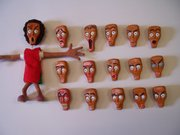 Replacement faces I sculpted for friends animation in Uni 2005