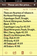 Here are the Prices for tobacco in Northwestern PA