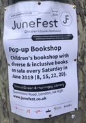 Pop up Children's Bookshop at Stroud Green and Harringay Library (every Saturday in June)