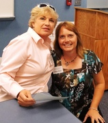 Ellen with author carolyn Haines