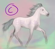 rosa häst
