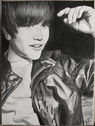 Justin Bieber - akvarell