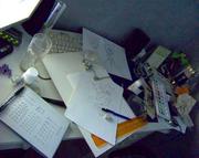 Mitt skrivbord när jag har insperation >-<'