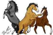 3 lekandes hästar :)