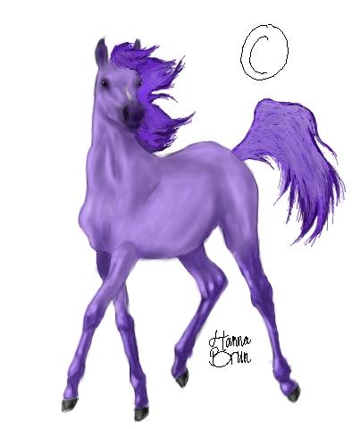 häst i rörelse