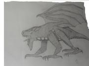 Lejoninspererad drake i profil