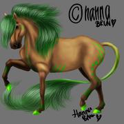 green weid horsie