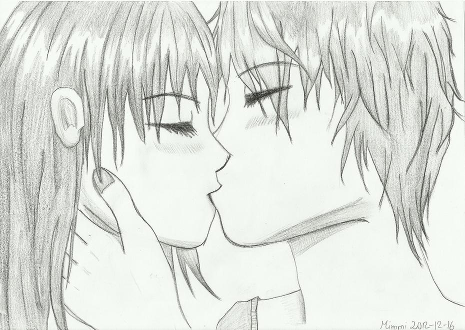 Kissing manga couple