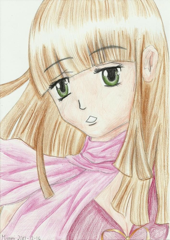 Manga girl (With scarf)