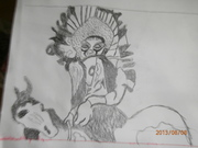001en indianhövning till häst