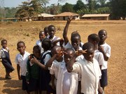 Students in various towns in Liberia, West Africa