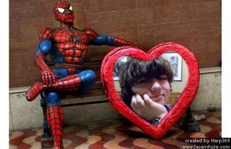 Tim in Spider-Man Heart