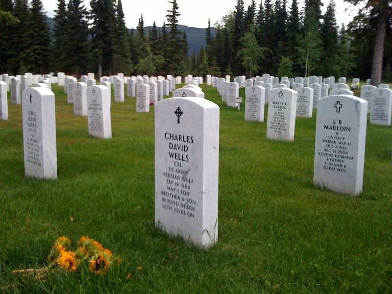 Charles' final resting place at Fort Richardson National Cemetery