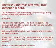 First Christmas without loved ones