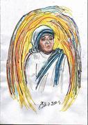 Mother Teresa  -  Work of art by Elisabetta Errani Emaldi