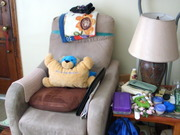 Mom's chair and living room...