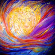 Colours of Angels dancing in the fire of life