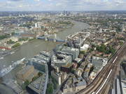 Views from the Shard in London.