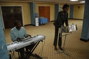 Me & Trevor Playing at ABCSI Launch