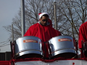 Playing in the Santa Clause parade