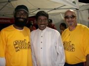 Salah with Hugh Borde and Jerry Bain at Pan Alive 2013