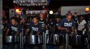 Canada's Pan Fantasy Steel Orchestra practices in New York for Panorama 2013
