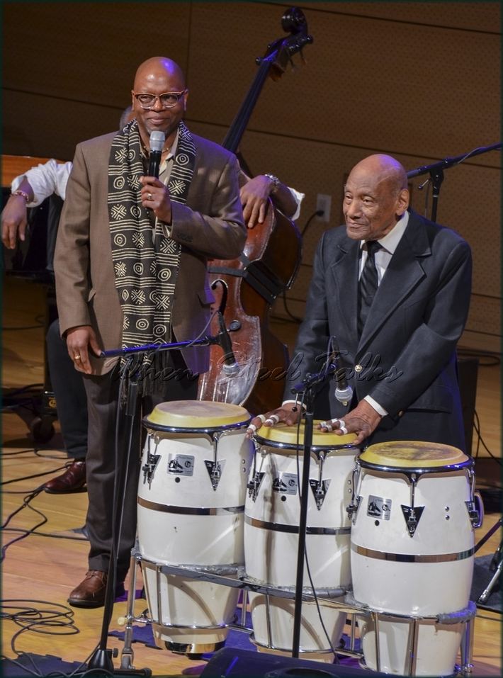 """Drummer & moderator Lewis Nash introduces Candido (Cuba), Afro-Cuban drums - from: """"Randy Weston presents Symposium in the Drum - From Africa to the New World"""""""