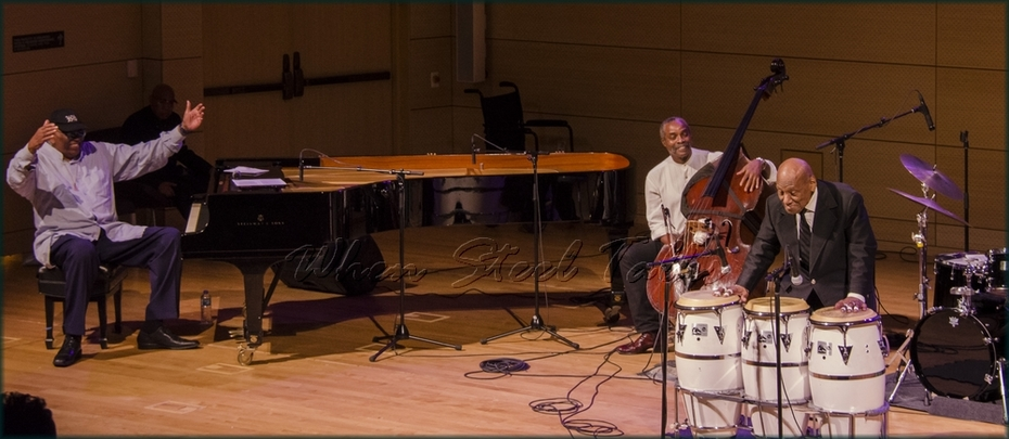 """Randy Weston applauds Candido (Cuba), Afro-Cuban drums - from: """"Randy Weston presents Symposium in the Drum - From Africa to the New World"""""""