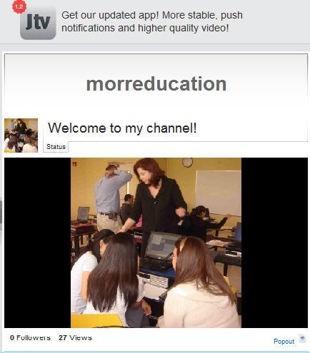 Justin.tv/morreducation