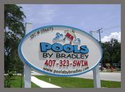Pools By Bradley sign