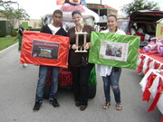 Winners of Best Golf Car in 2009 Christmas Parade. Poinciana, Florida