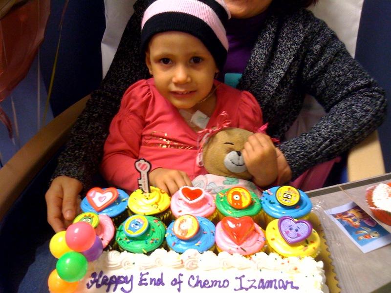 Izamar's end of chemo