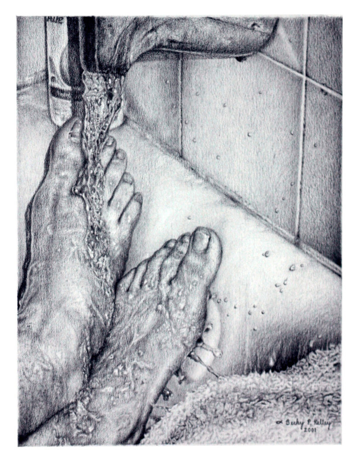 Becky P. Kelley Feet in graphite