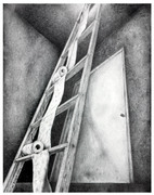 Becky P. Kelley Three Point Perspective Ladder in graphite