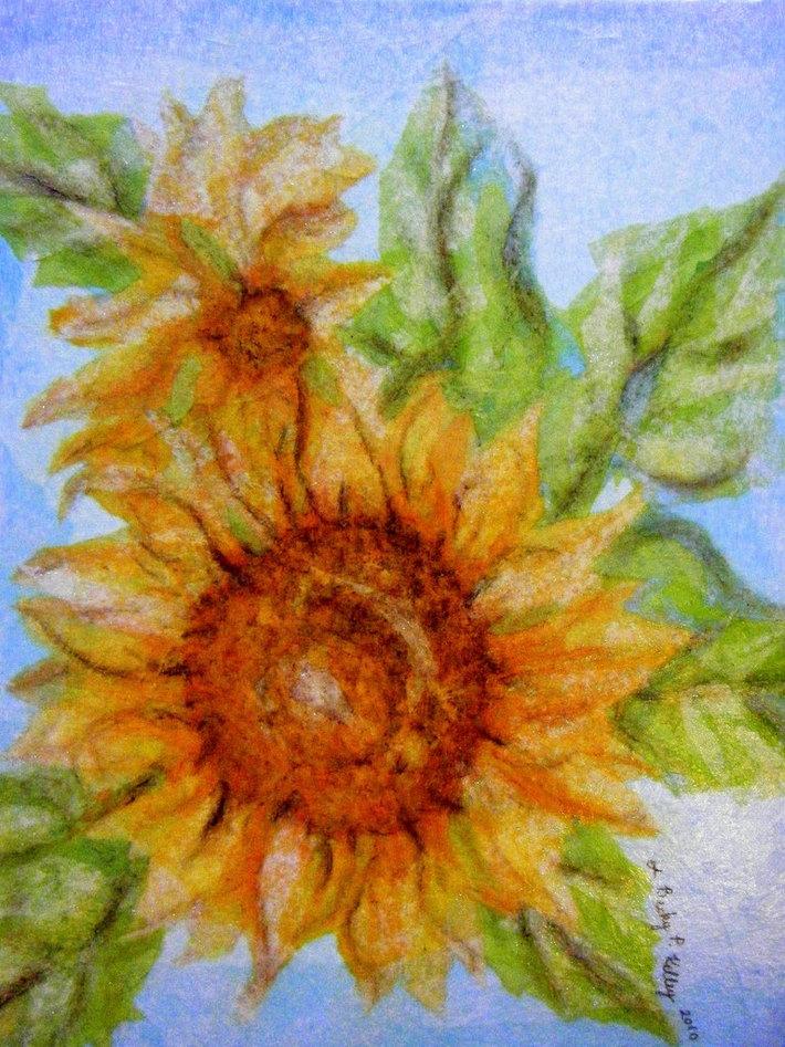 Becky P. Kelley Sunflower Collage