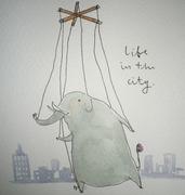ช้างน้ำ - elephant in watercolour