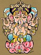 Trimukha Ganesha
