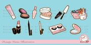 Beauty Items Illustration