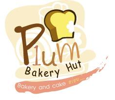 ผลงานออกแบบโลโก้ร้านเบเกอรี่ Plum Bakery Hut