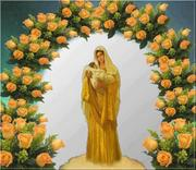Portal de rosas com MARIA