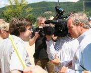 Our President, Peter Trippett under the media guns