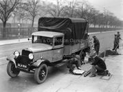 Erecting Bus Stop, Seven Sisters Road, Finsbury Park, 1935