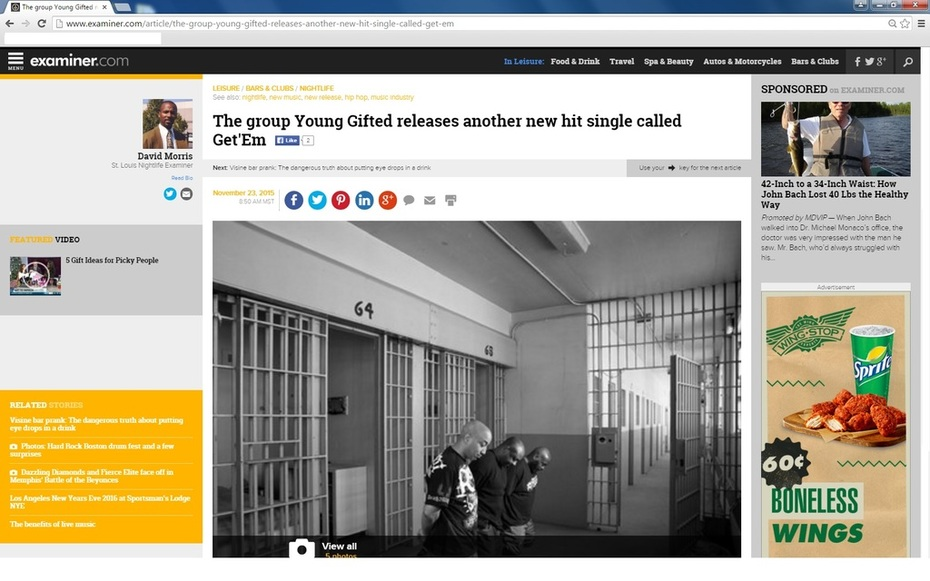 Young Gifted Featured On: Examiner.com