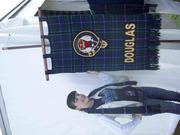 Sarah and American Clan Douglas banner