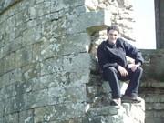 Mick at Douglas Castle ruins