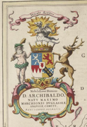 Coat of arms from 1654 Blaeu map of Nithsdale