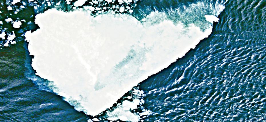 Antarctic Ice Floe heart
