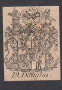 Original Kupferstich-Wappen von ca. 1750