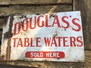 Douglas table waters sign